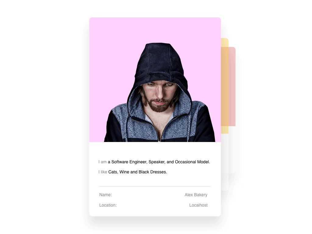 The exercise: User card app built with React. Refactor to use Redux.