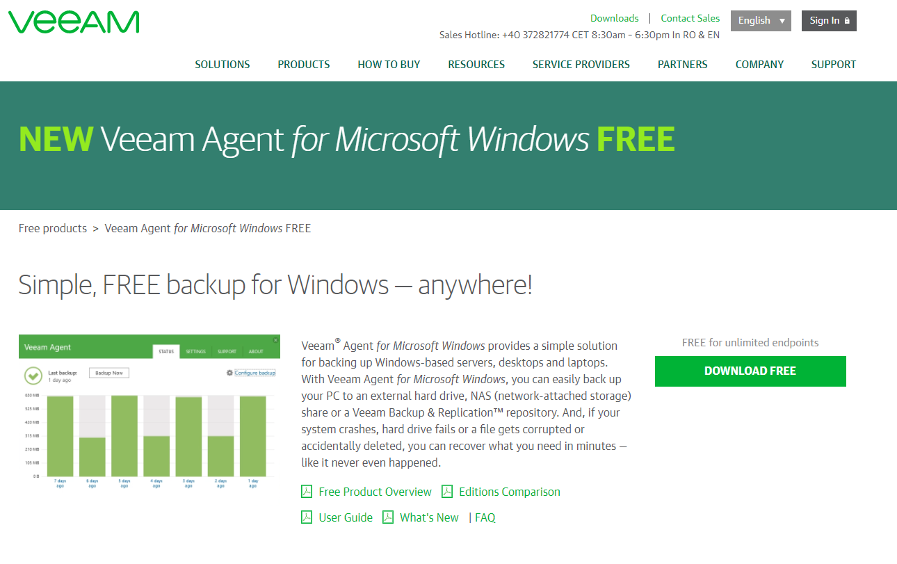 Back up your computer with Veeam Agent for Microsoft Windows FREE