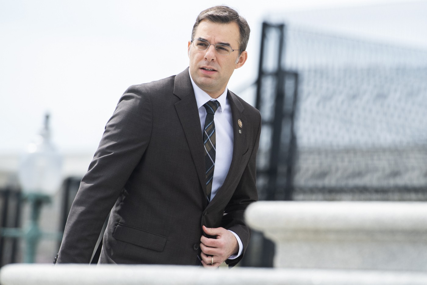 Rep. Justin Amash is seen on the House steps of the Capitol before the House passed a $2 trillion coronavirus aid package.