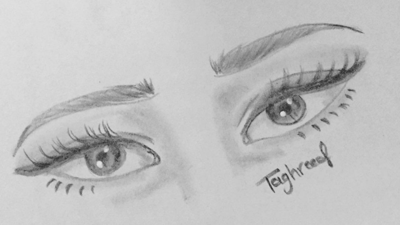 How To Draw A Pair Of Eyes For Beginners Tag Moj Medium