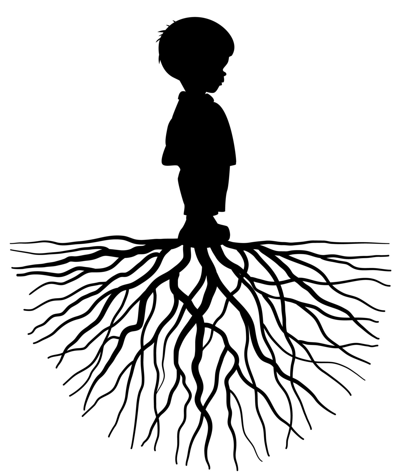 A Child Growing From The Roots