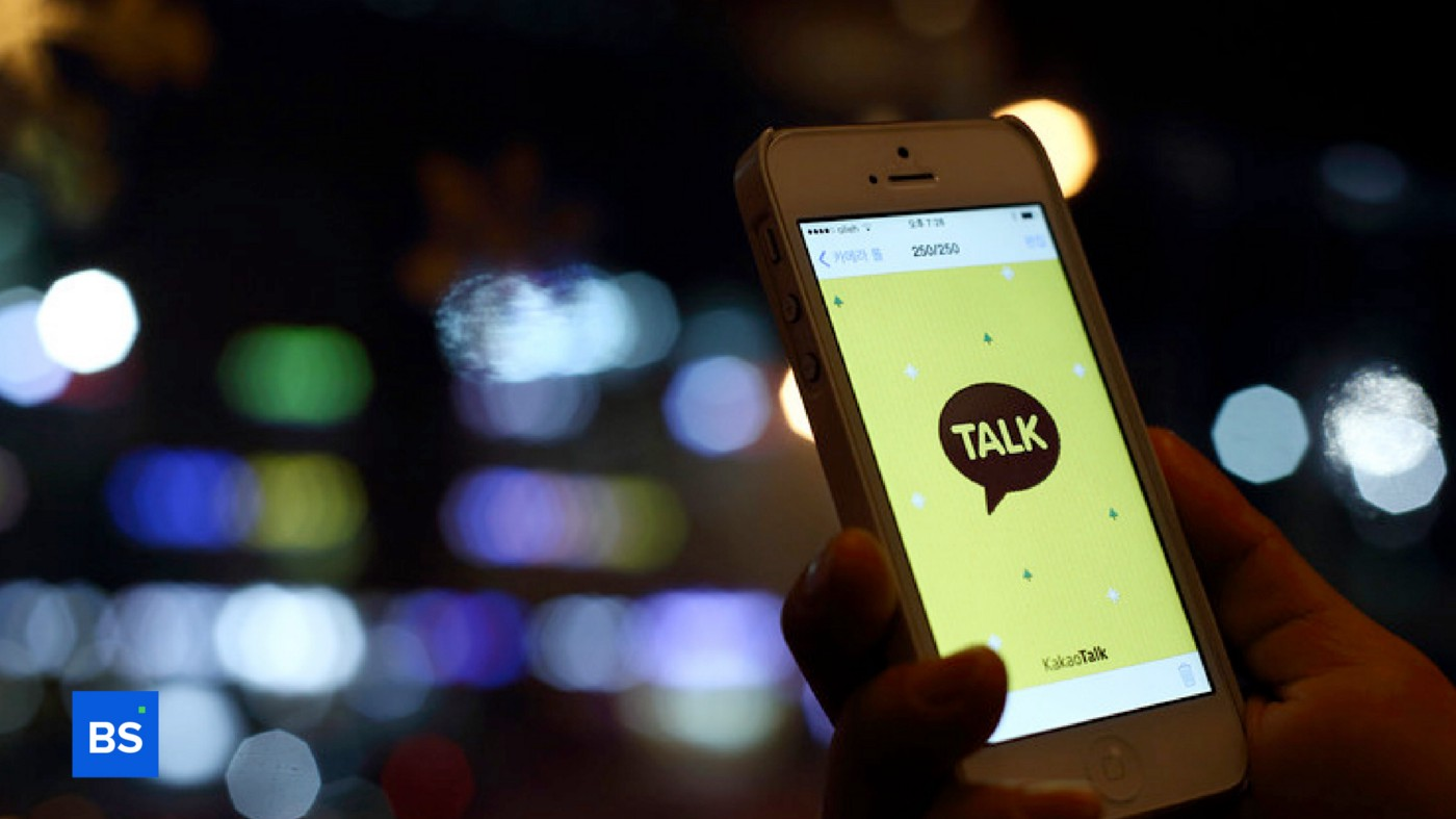 A photo of Kakao's app on a mobile phone