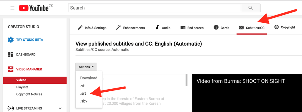 How to Burn Subtitles into Your YouTube Videos - WITNESS - Medium