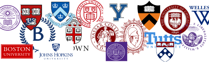 logos of various colleges and universities