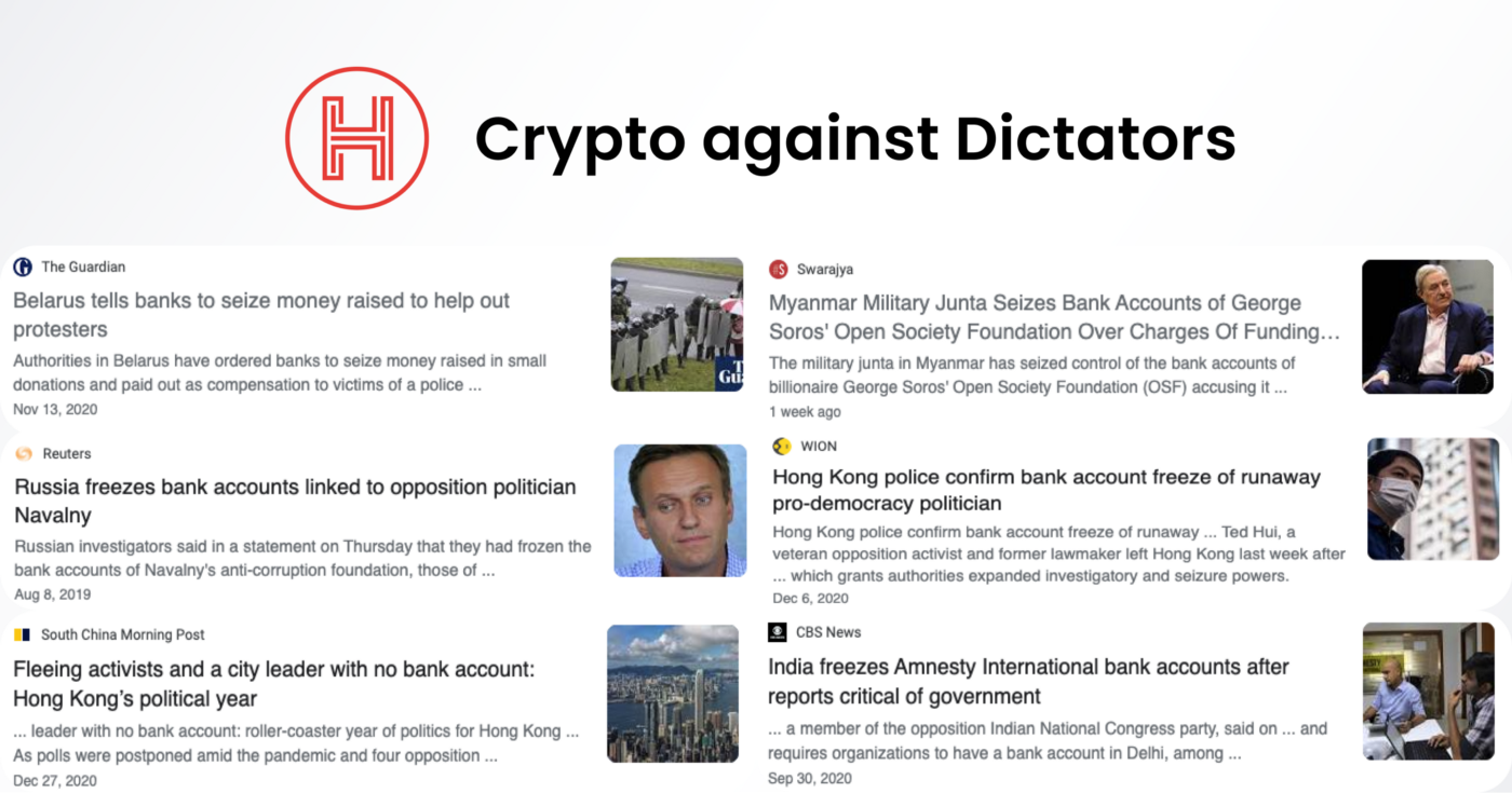 News about blocking of opposition's bank accounts keep coming from all over the world