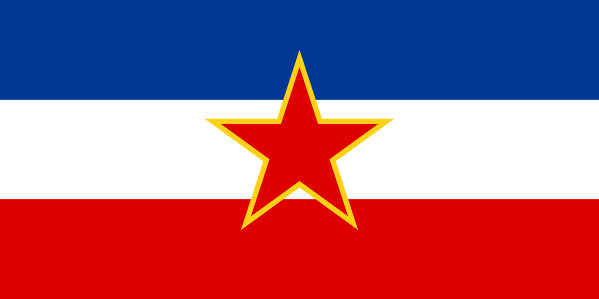 The Flag of the former Socialist Federal Republic of Yugoslavia