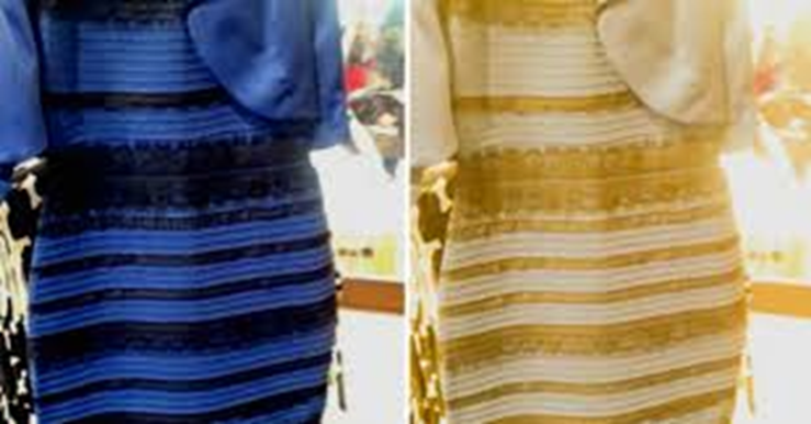 The dress—Is it blue and black or white and gold?