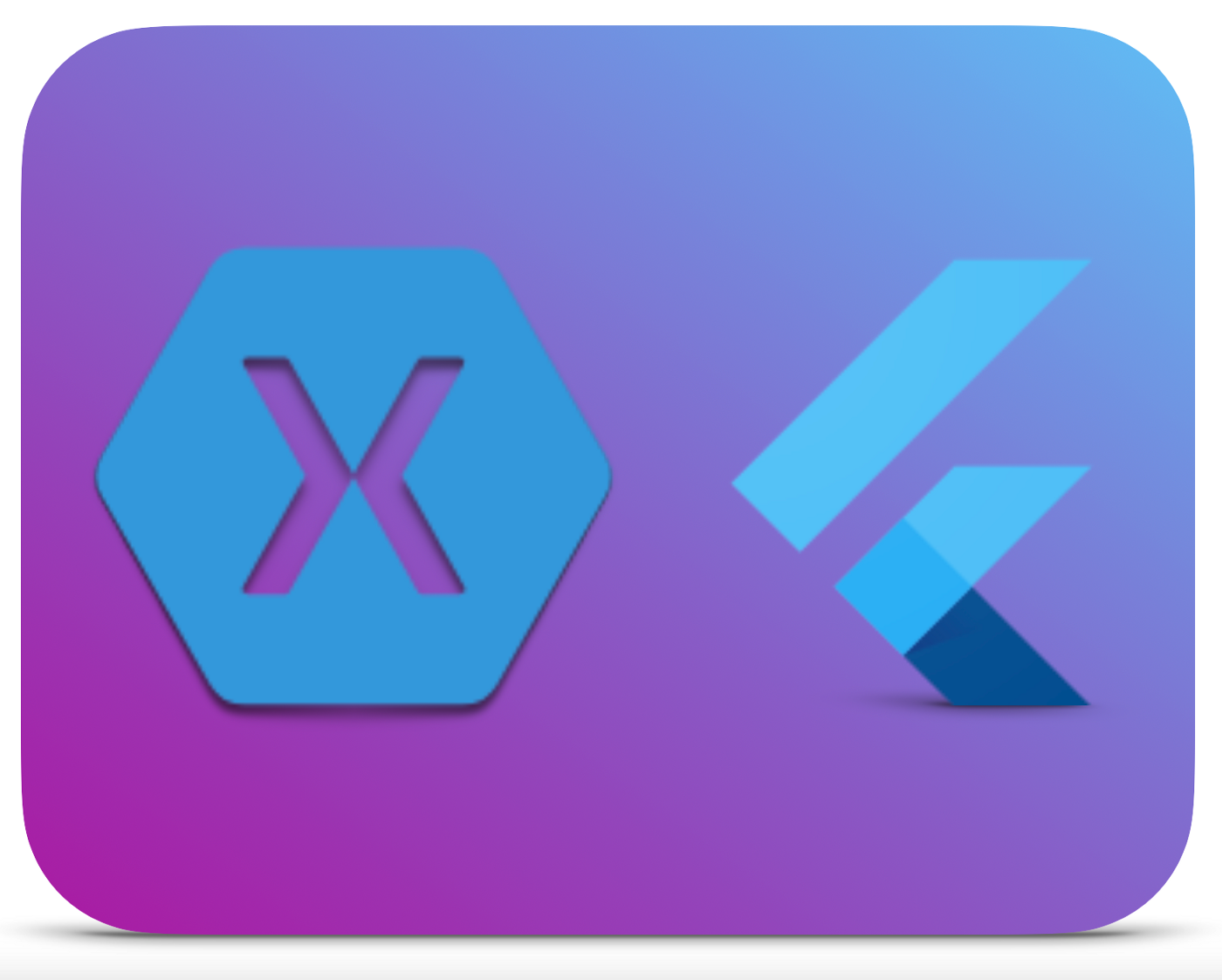 Xamarin Forms and Flutter logos