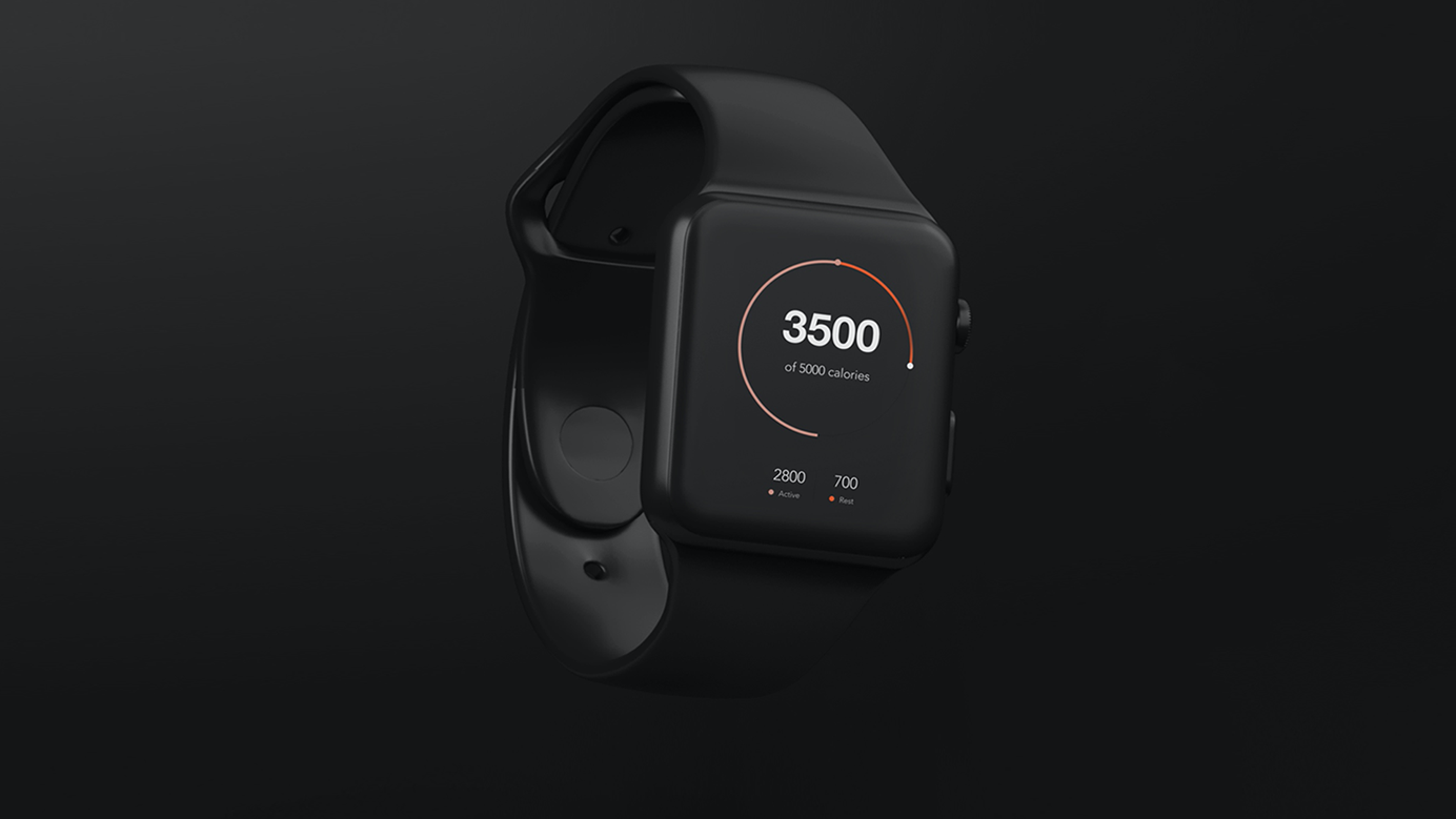 A health tracking smartwatch