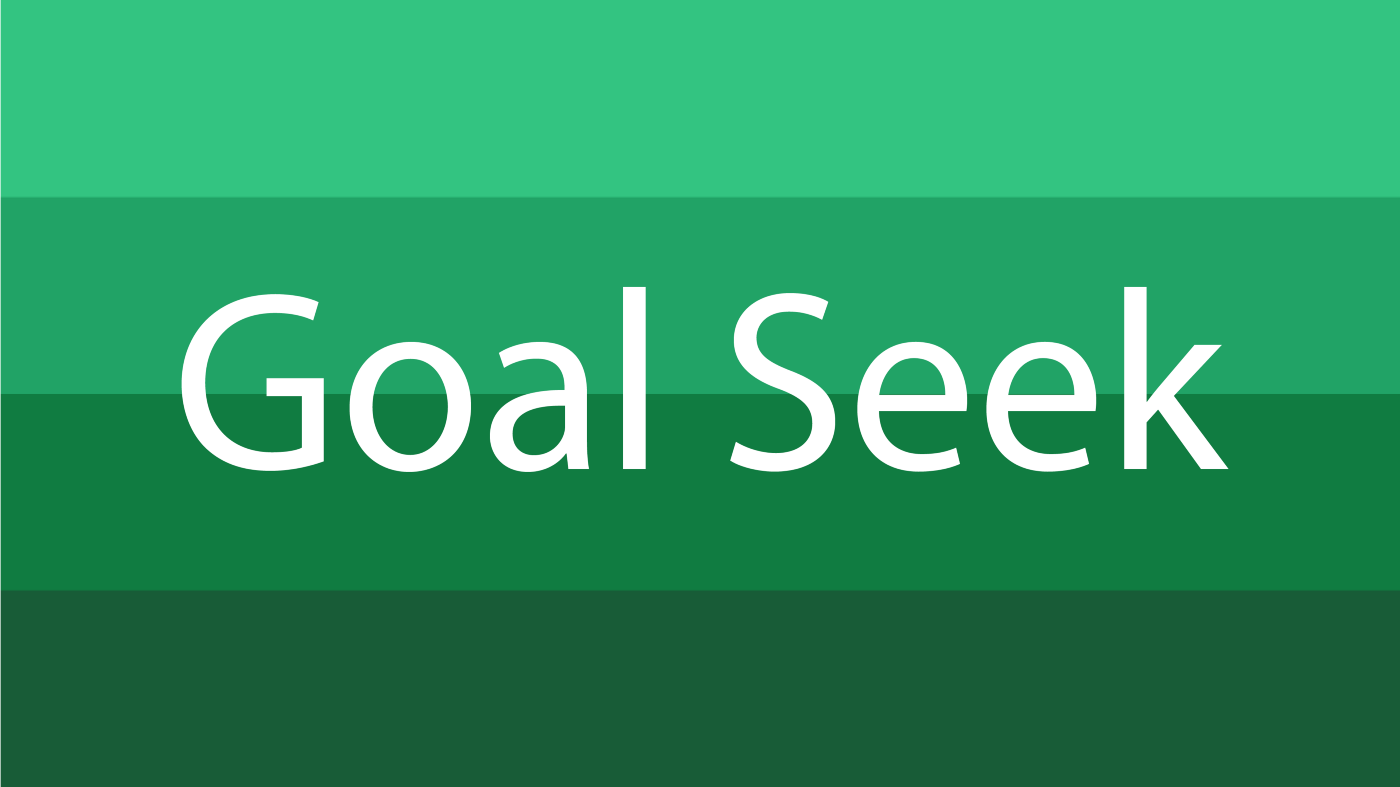 How to Use Goal Seek in Excel.