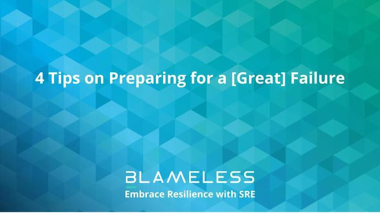 4 Tips on Preparing for a [Great] Failure on a blue checked background