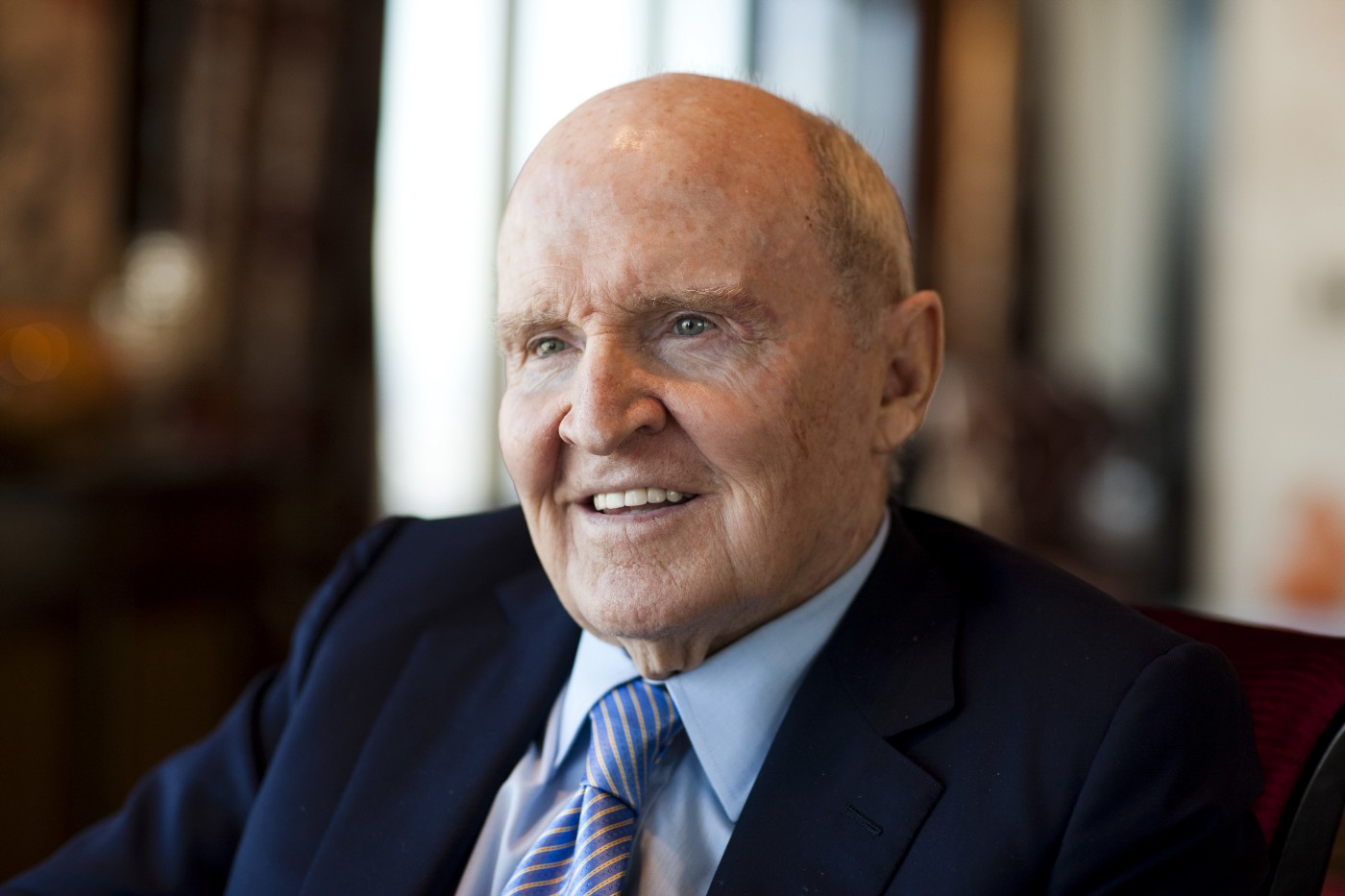 Jack Welch, former Chairman and CEO of General Electric, in his New York City apartment.