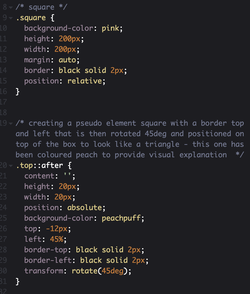 How to create simple triangle borders with CSS - Level Up Coding