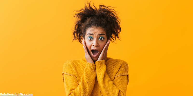 Woman with shocked expression—What My Girlfriend Really Thinks About All My Sex Articles