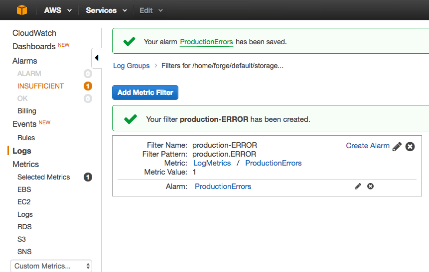Using AWS CloudWatch for Laravel Logs on Forge - James Fairhurst