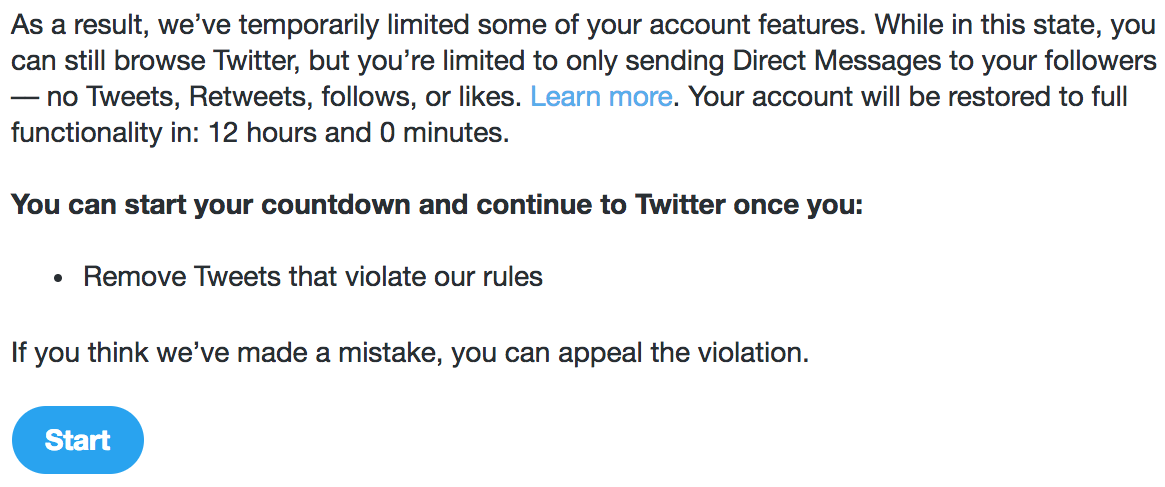If Twitter's appeal system for locked accounts is so great, why have