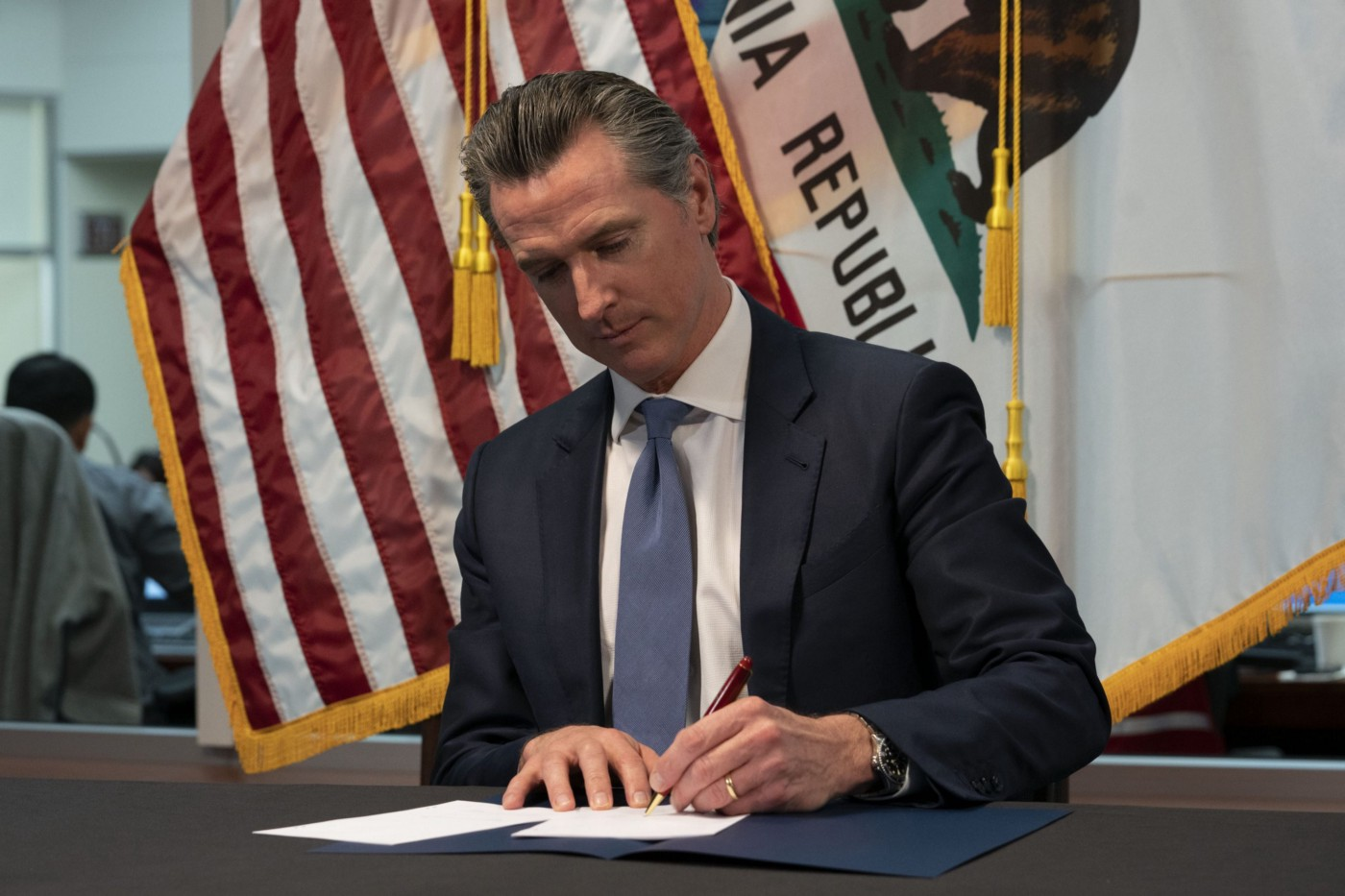 Governor Newsom is signing a bill