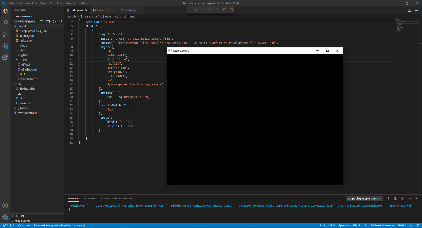 opengl hello world preview