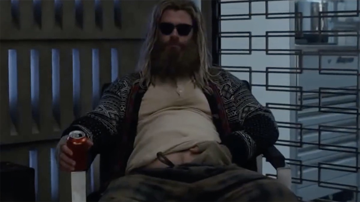 An image of Fat Thor from Marvels' Avengers: Engame.