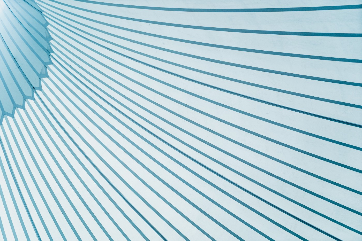 decorative: a pattern of sweeping blue lines