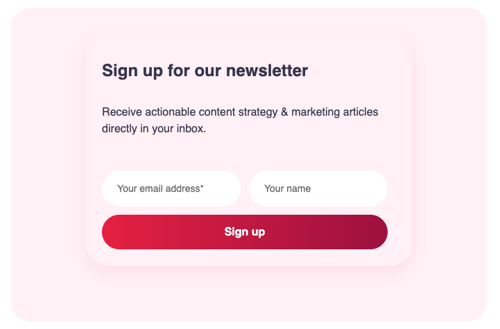 Subscribe form with styled components and React / Gatsby