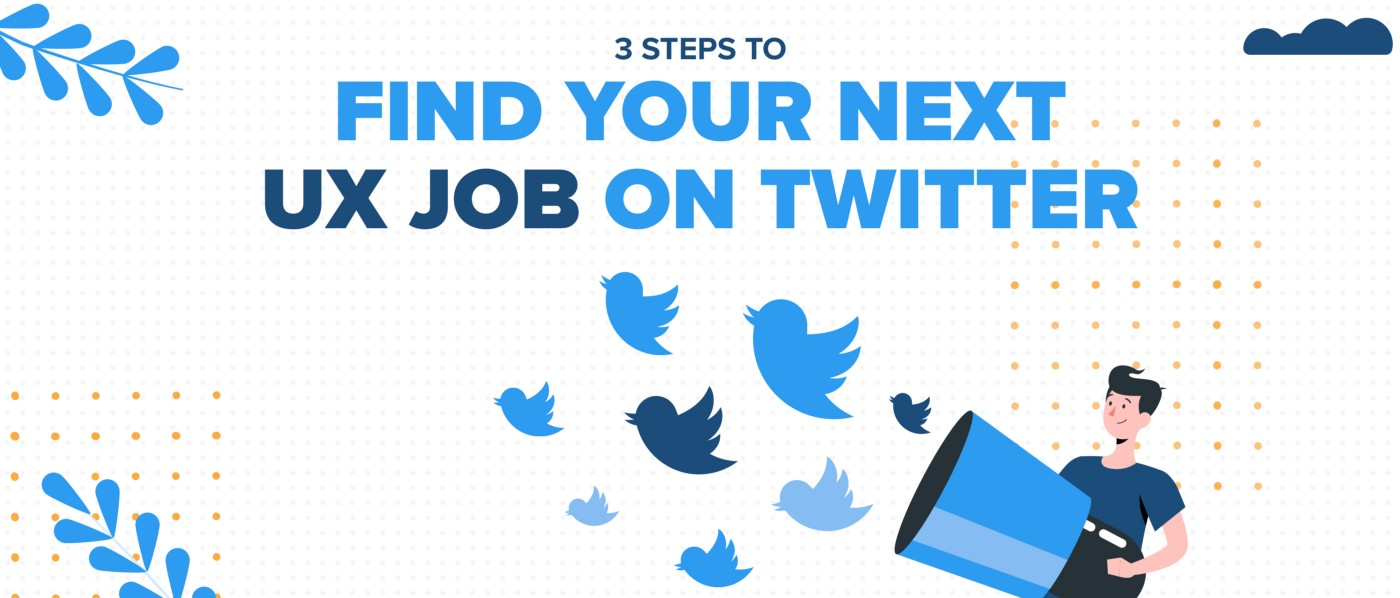 Intro image for UX jobs on Twitter