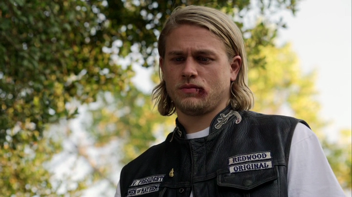 Charlie Hunnam in the first season of Sons of Anarchy.