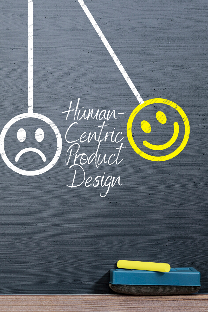 An image depicting the change in customer emotion when the products are designed using human-centric approach