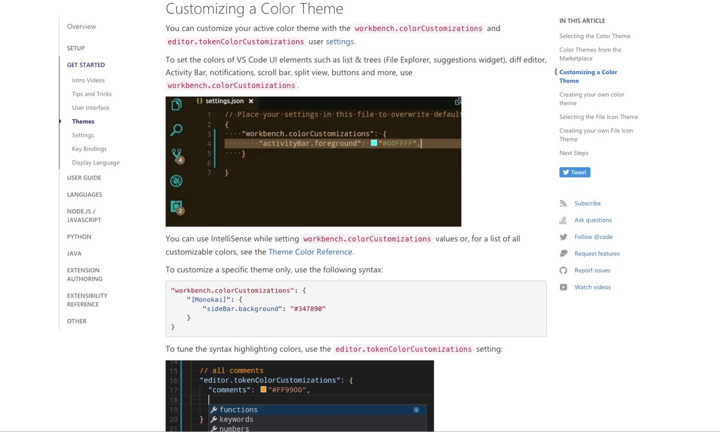Visual Studio Code: Color Theme Customization - Yong-Nicholas A  Kim