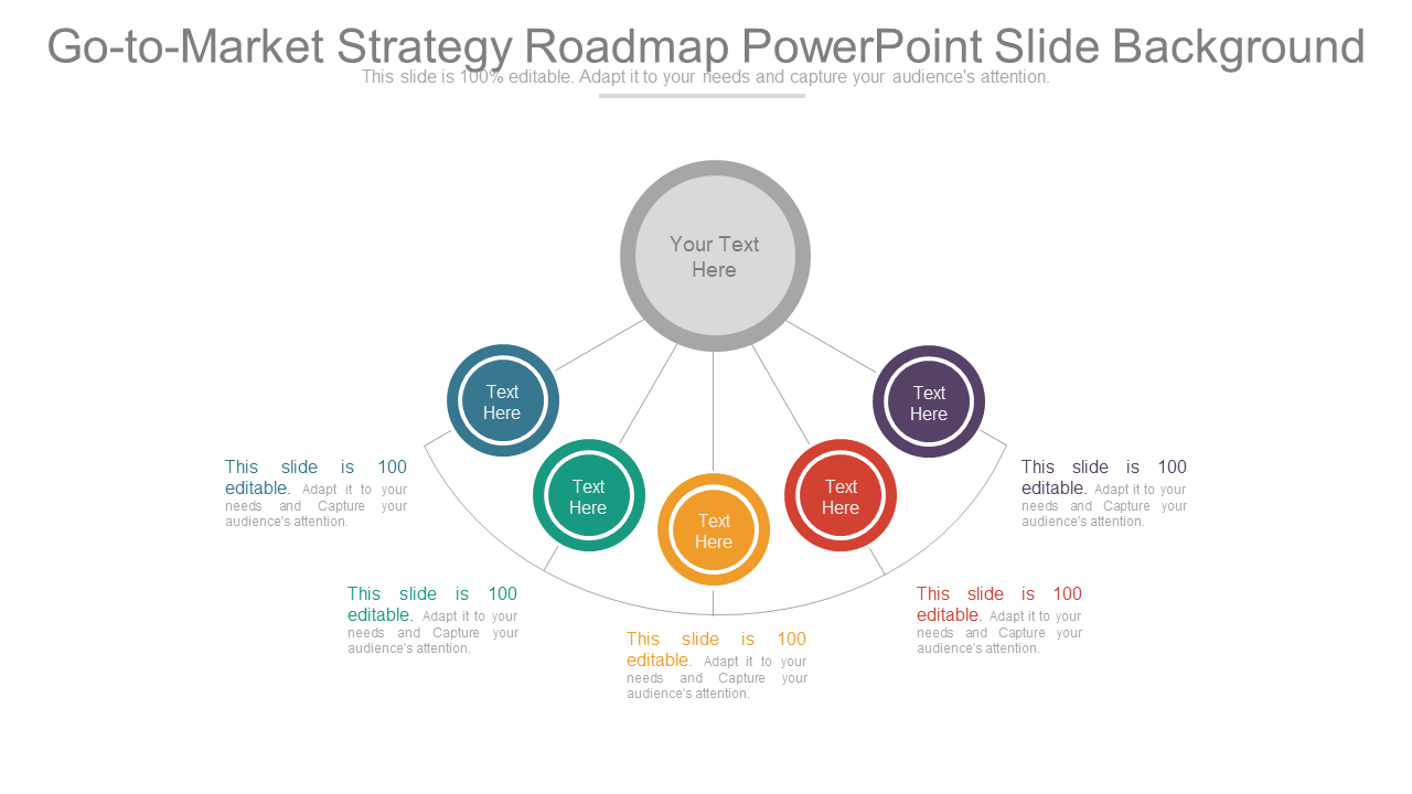 Go to Market Strategy Roadmap PowerPoint Template Diagram