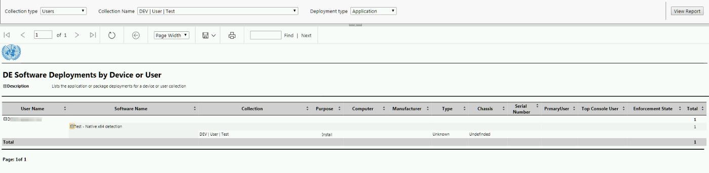 Application and Package Deployments Reporting by Collection with SCCM