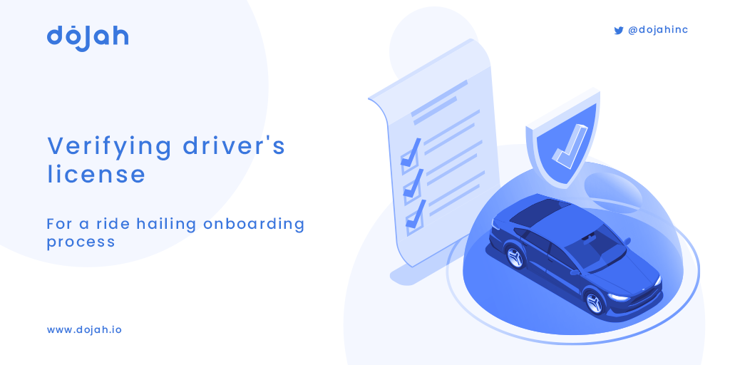 Verifying the details on a driver's license