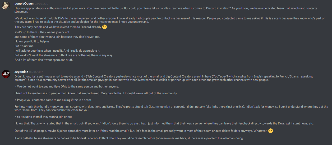 Giving a Community Manager too much power in a Discord server (or