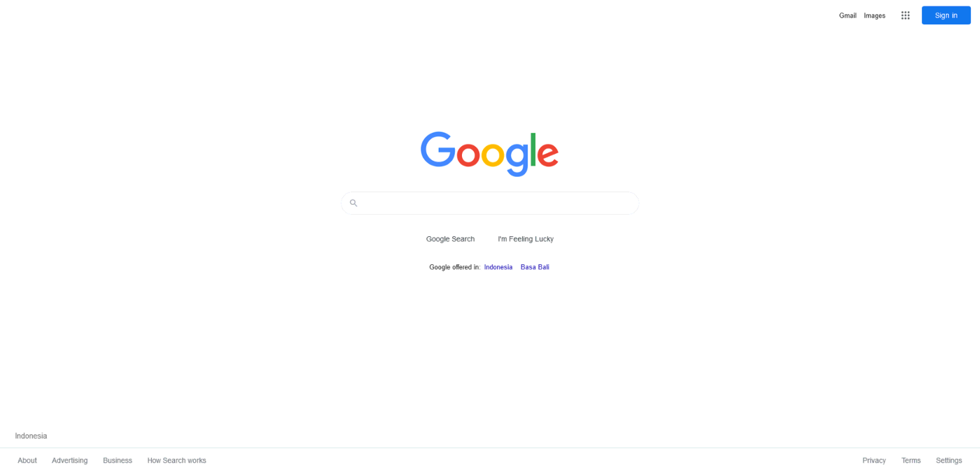 Google search as an example of digital user experience