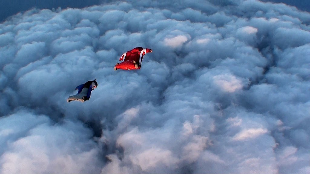 Touching the clouds and celebrating life