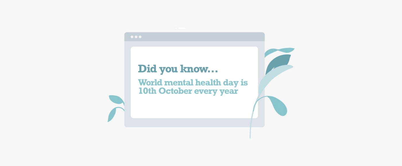 World mental health day is 10th October every year