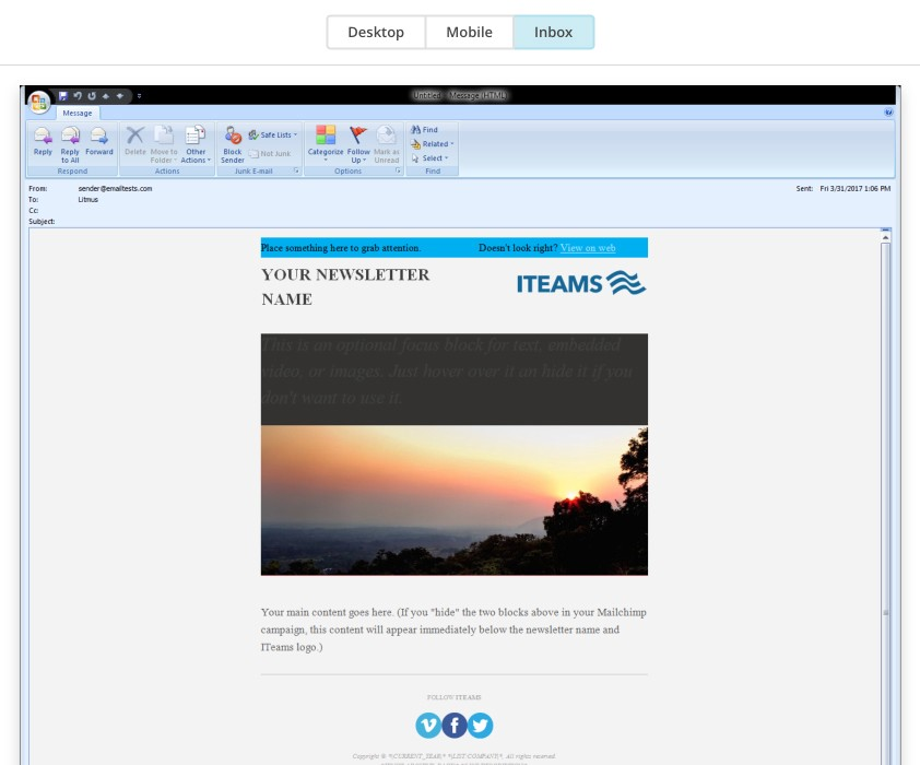 A Fix for Outlook Image Issues in HTML Email Campaigns