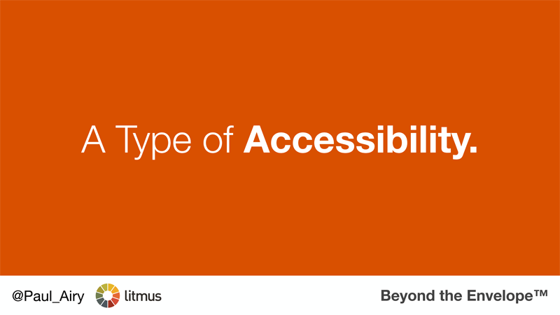 'A Type of Accessibility'. My talk at The Email Design Conference, 2015.
