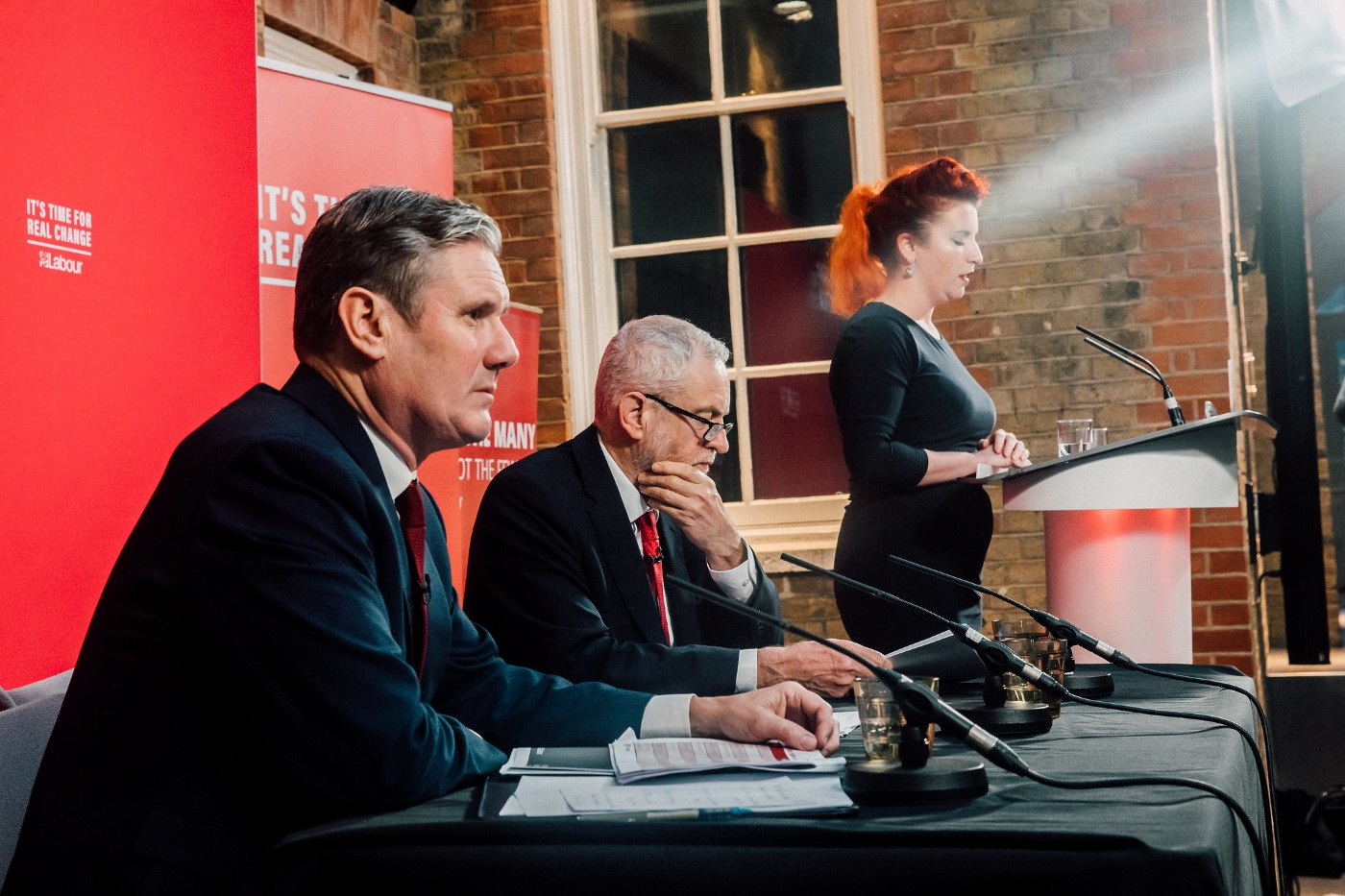 Jeremy Corbyn and Keir Starmer at a press conference