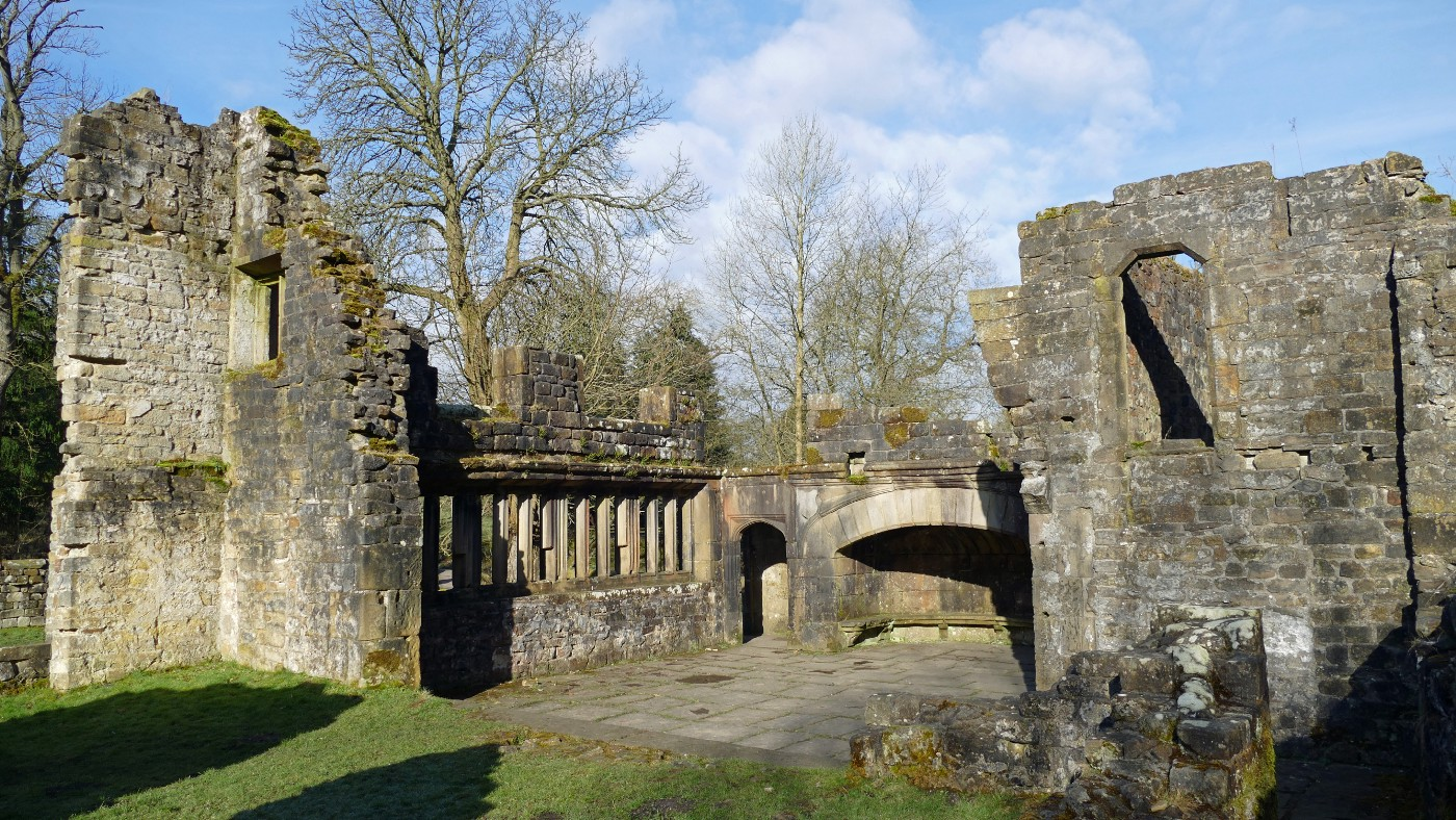 a photo of the ruins of Wycoller Hall, Colne