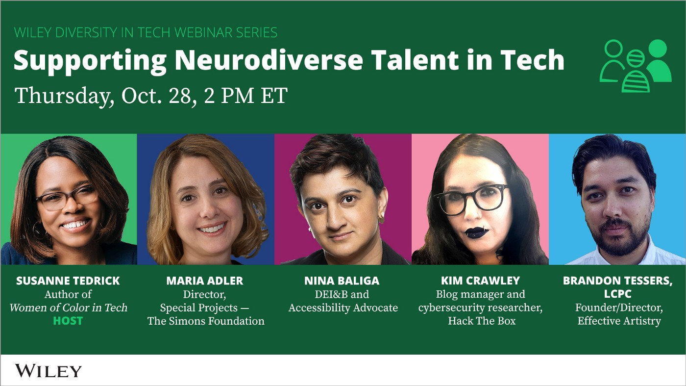 Wiley Diversity in Tech: Supporting Neurodiverse Talent in Tech