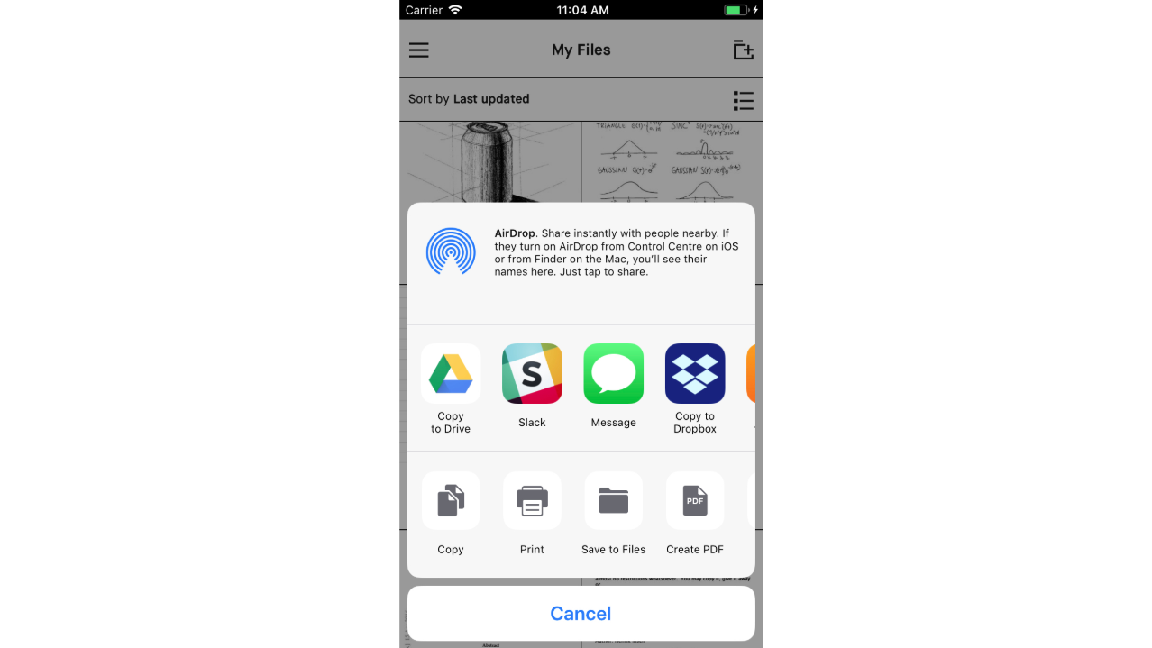 New software update: Improved sharing capabilities across mobile and