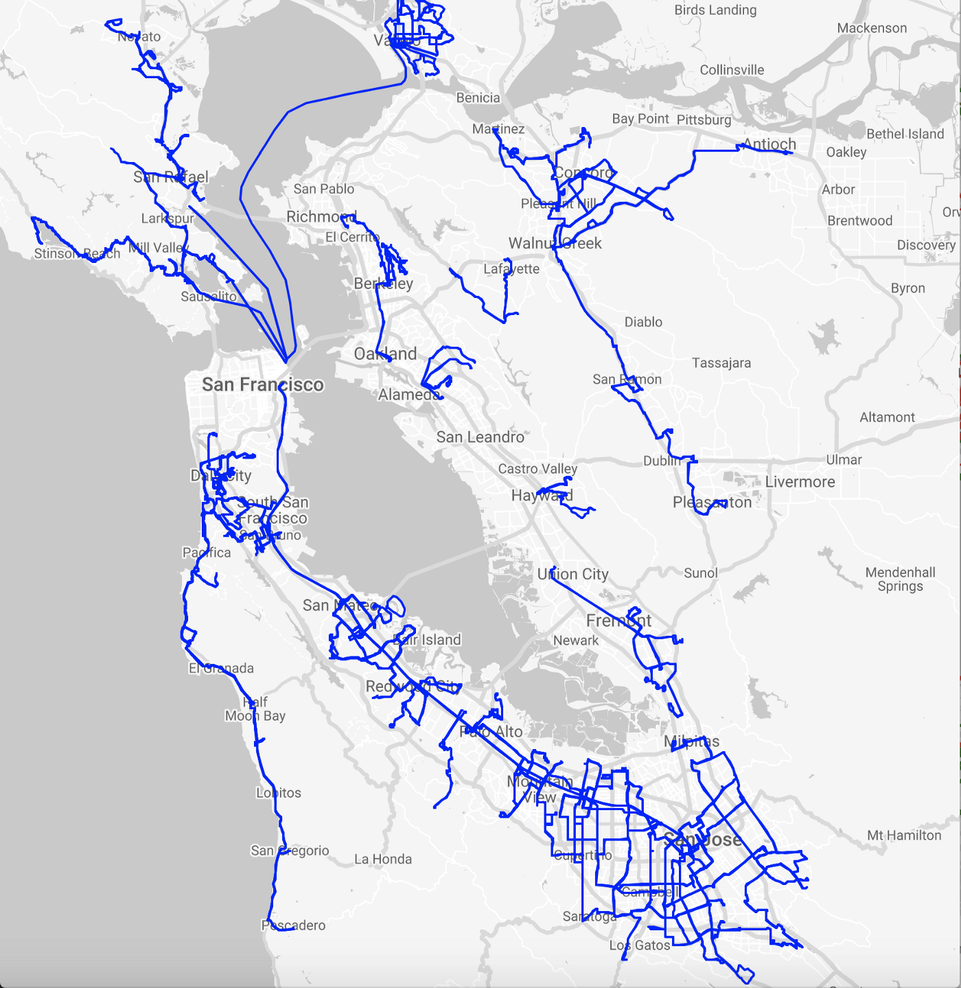Generating pretty maps to visualize current and proposed transit