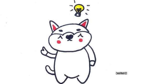 Illustration of a bear with a lightbulb above his head.