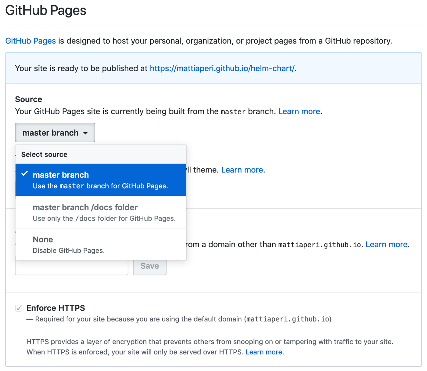 Create a public Helm chart repository with GitHub Pages