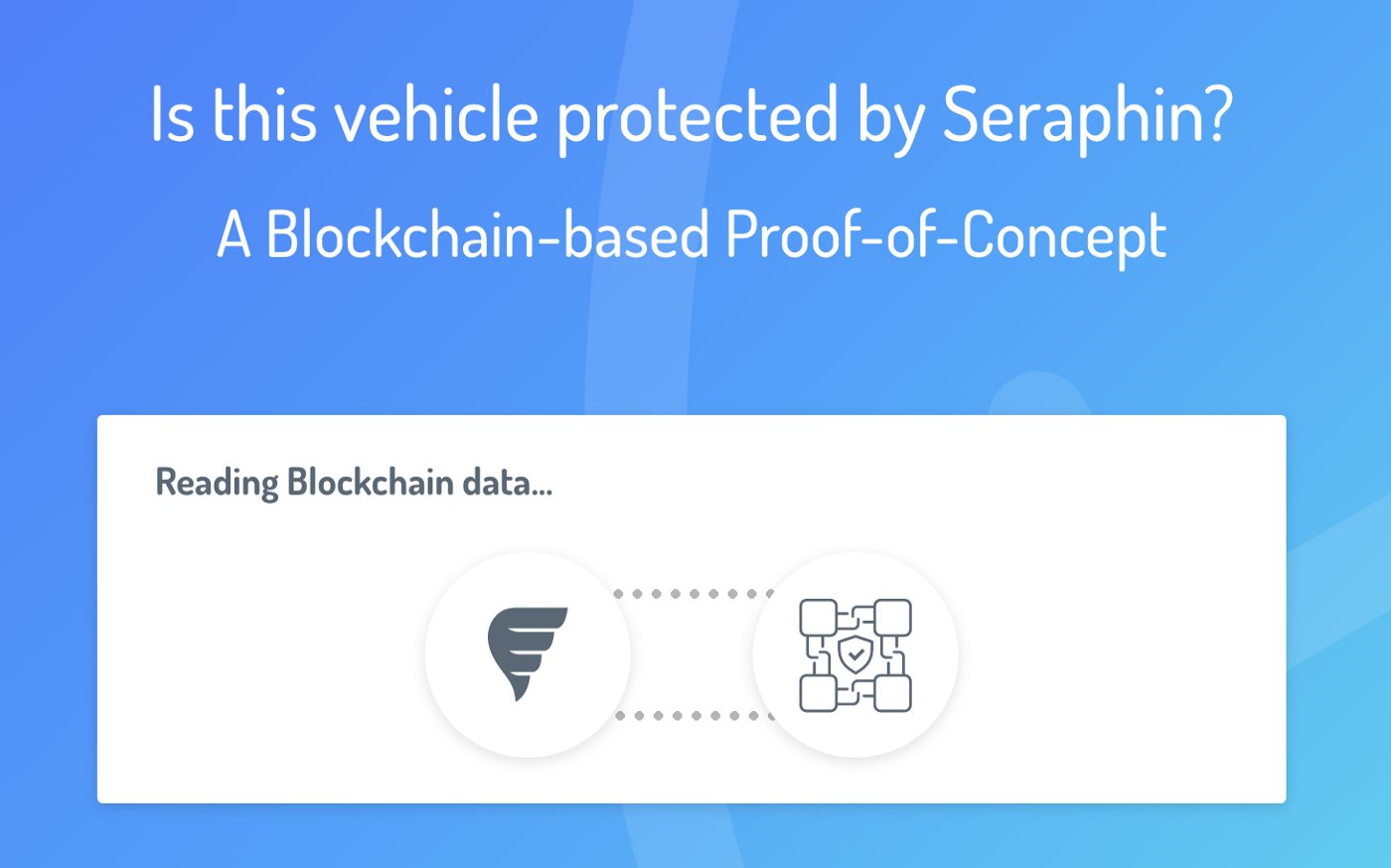 Seraphin launches Belgium's first Proof-of-Concept of Blockchain