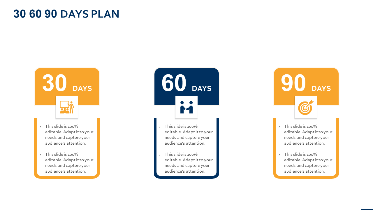 30 60 90 Day Plan Template Graphic