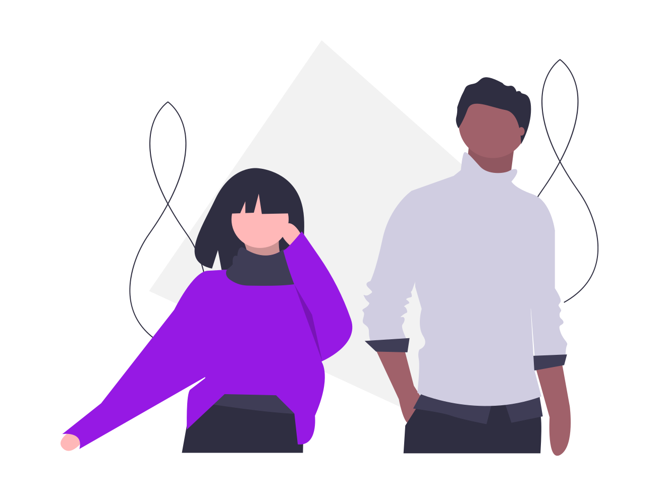 Illustration of two people next to each other.