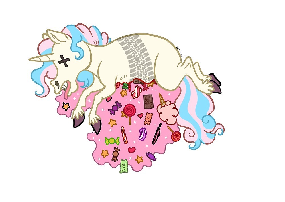 Roadkill unicorn with delicious candy filling