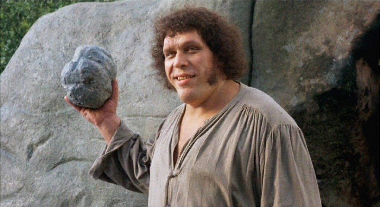 """André Roussimoff as the giant Fezzik in """"The Princess Bride""""."""